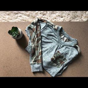 Tucker and Tate boys camo grey shirt size 5